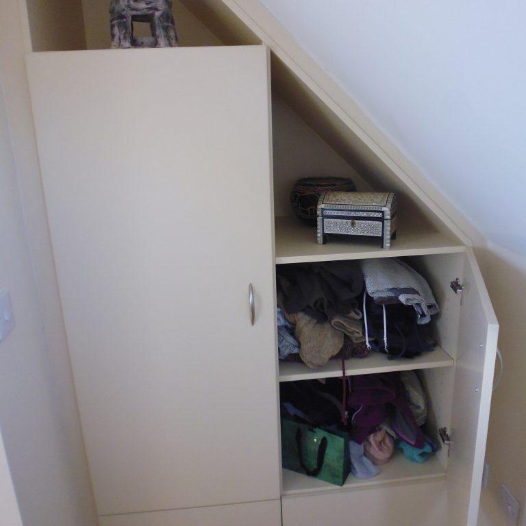 Attic Alcove Storage