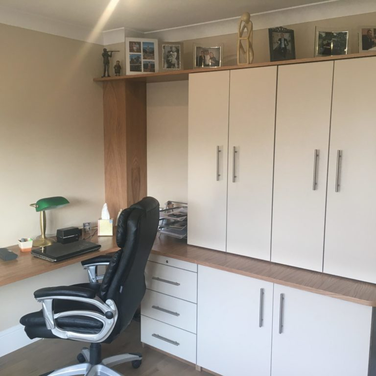 Bespoke office furniture installed in a Home Office