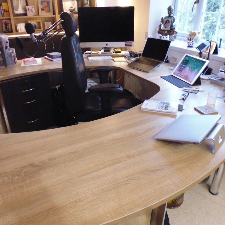 installation of bespoke home office furniture