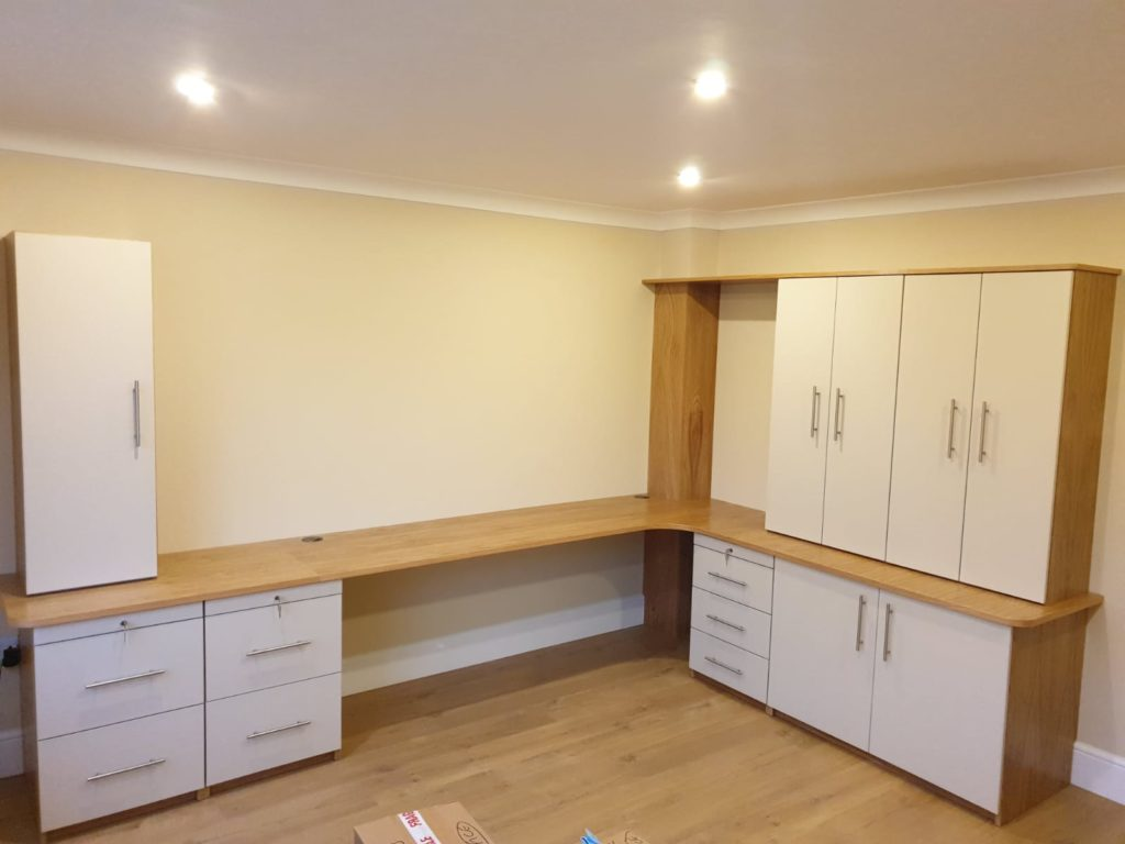 Installation of bespoke furniture in home office